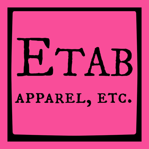"""Etab Logo"" Infant T-shirt Pink w/Black Print"