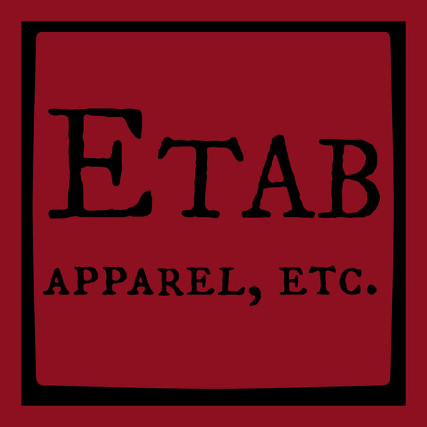 """Etab Logo"" Men's T-shirt Red w/Black Print"
