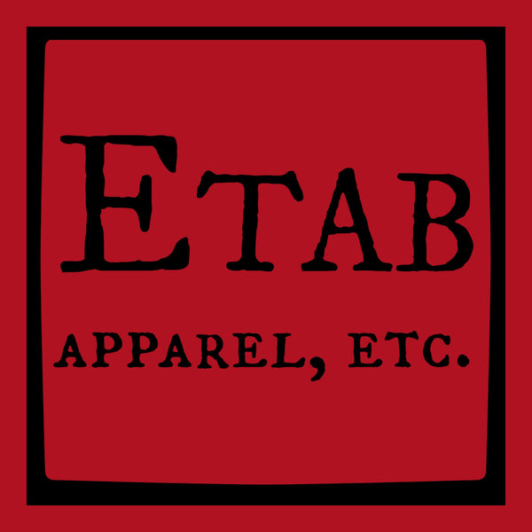 """Etab Logo"" Infant Onesie Red w/Black Print"