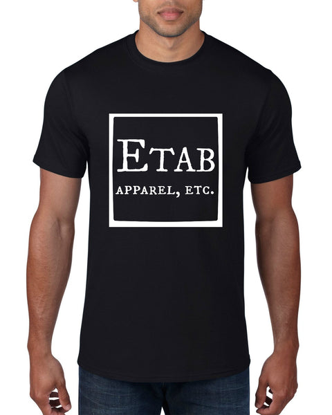 """Etab Logo"" Men's T-shirt Black w/White Print"