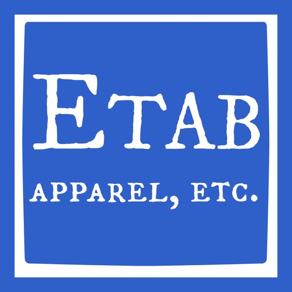 """Etab Logo"" Infant Onesie Blue w/White Print"