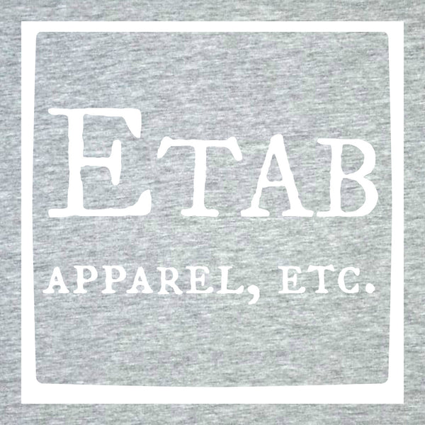 """Etab Logo"" Infant Onesie Gray w/White Print"