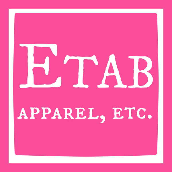 """Etab Logo"" Infant T-shirt Pink w/White Print"