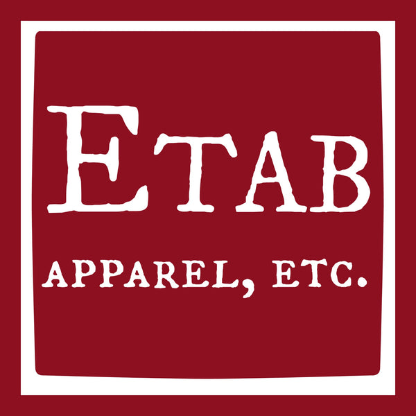 """Etab Logo"" Men's T-shirt Red w/White Print"