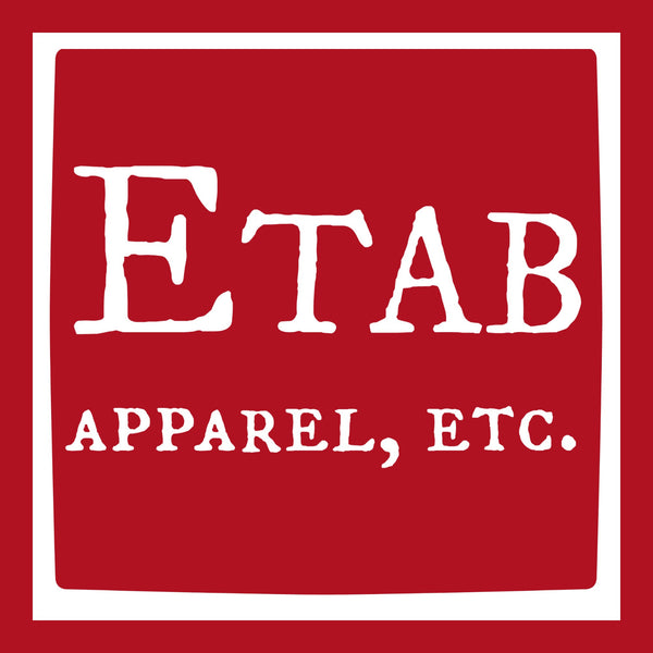 """Etab Logo"" Infant Onesie Red w/White Print"