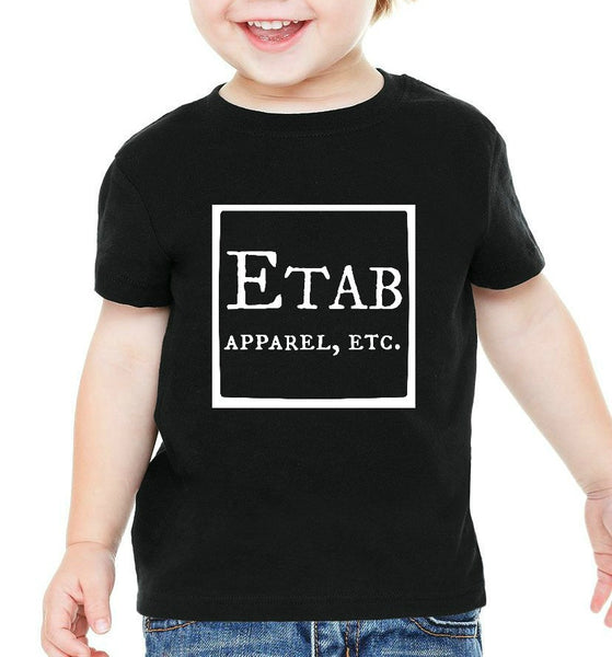 """Etab Logo"" Infant T-shirt Black w/White Print"