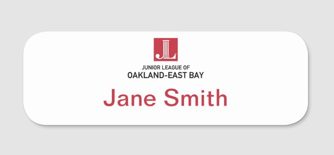 JL Oakland-East Bay Name Tag (Members Only)