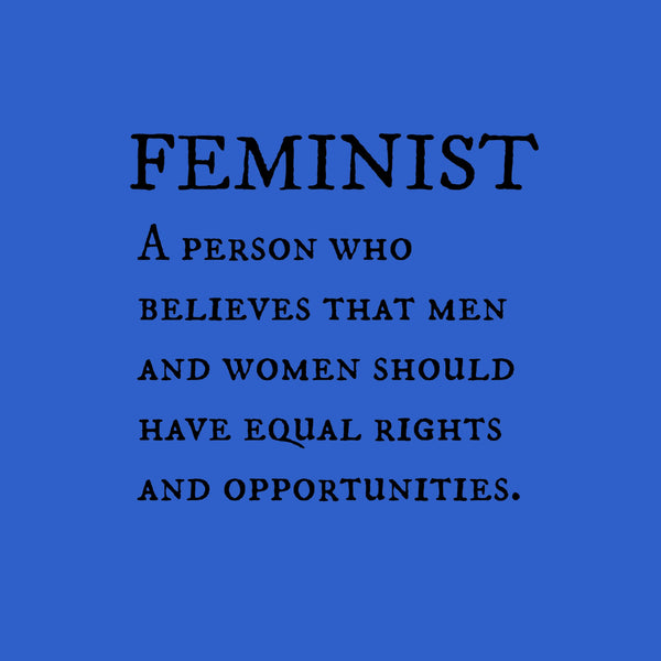 """Feminist"" Youth T-shirt Blue w/Black Print"