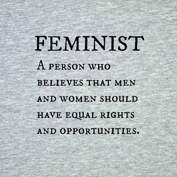 """Feminist"" Men's T-shirt Gray w/Black Print"