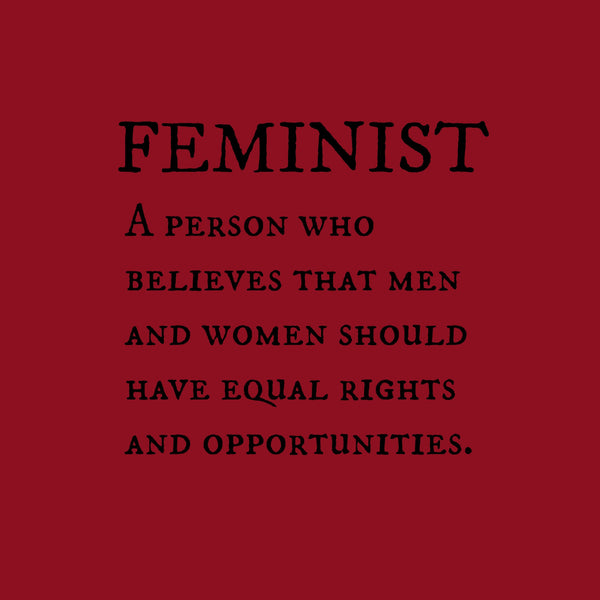 """Feminist"" Men's T-shirt Red w/Black Print"