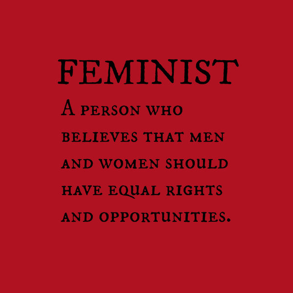 """Feminist"" Youth T-shirt Red w/Black Print"
