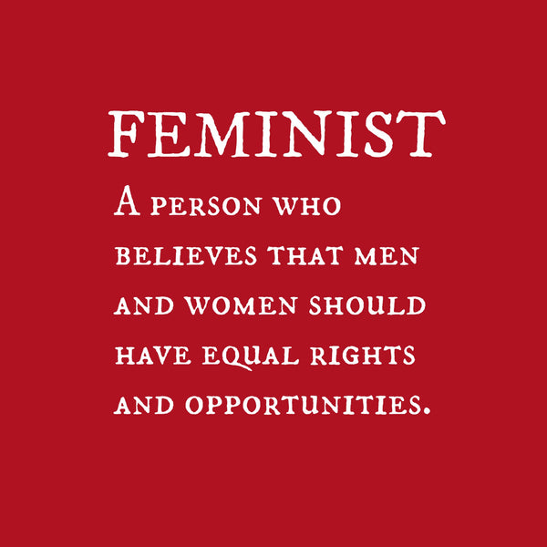 """Feminist"" Youth T-shirt Red w/White Print"