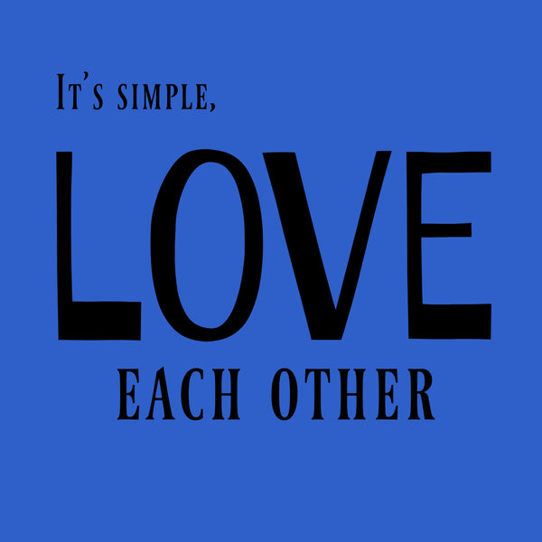 """Love Each Other"" Toddler T-shirt Blue w/Black Print"