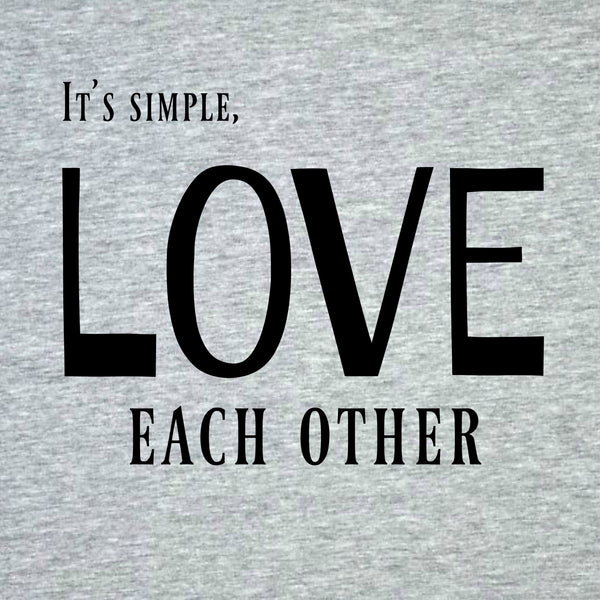 """Love Each Other"" Women's T-shirt Gray w/Black Print"
