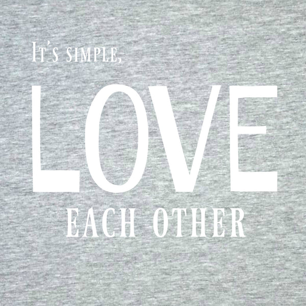 """Love Each Other"" Women's T-shirt Gray w/White Print"