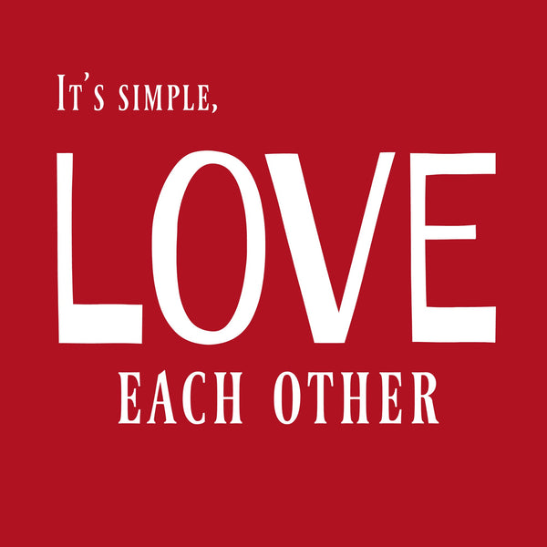 """Love Each Other"" Toddler T-shirt Red w/White Print"