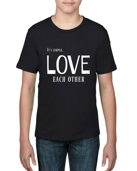 """Love Each Other"" Youth T-shirt Black w/White Print"