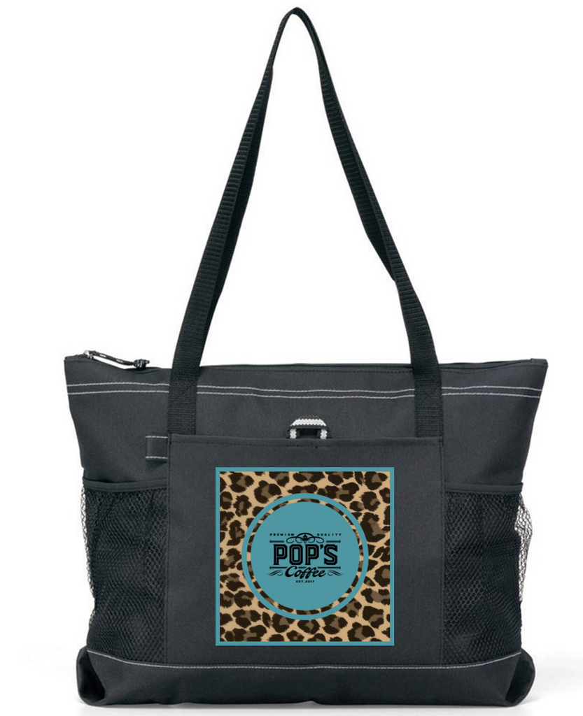 "Pop's Coffee ""Leopard Logo"" Premium Tote Bag"
