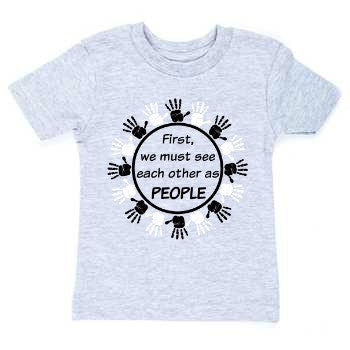 """People First"" Toddler T-shirt Gray"