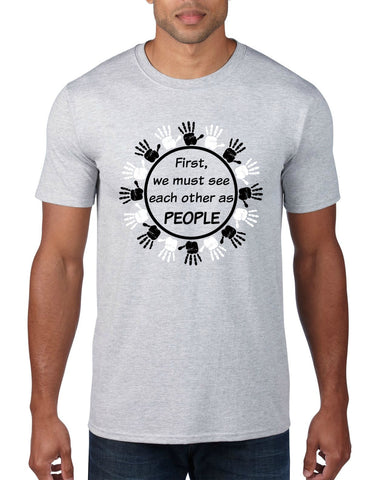"""People First"" Men's T-shirt Gray"