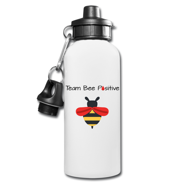 "LLS ""Team Bee Positive"" Water Bottle - white"