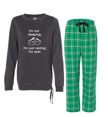 "Rockabye ""Resting My Eyes"" Women's Super Cozy Sleep Set"