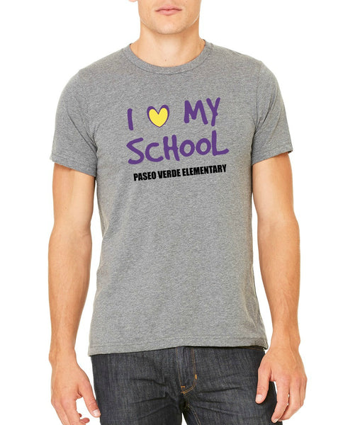 "Paseo Verde Unisex ""Love My School"" T-shirt"