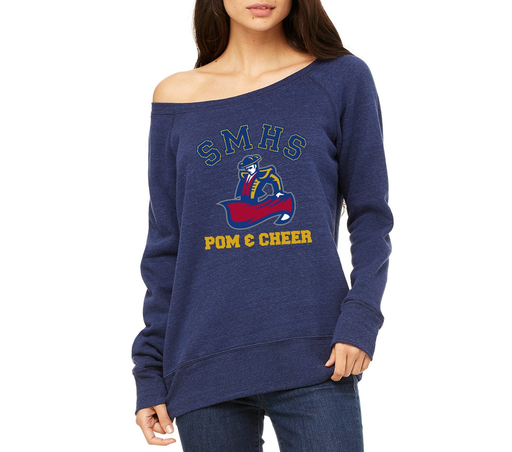 SMHS Pom & Cheer Women's Wide Neck Sweatshirt