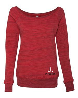"JLP Women's ""Logo"" Wide Neck Sweatshirt"