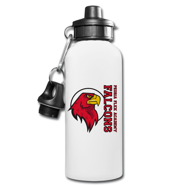 "Peoria Flex Academy ""Logo"" Water Bottle - white"