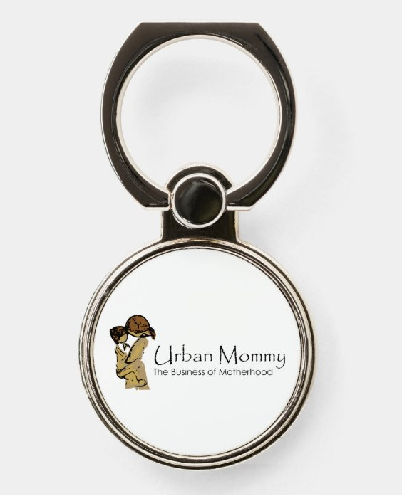 "Urban Mommy ""Logo"" Phone Ring Holder & Stand"