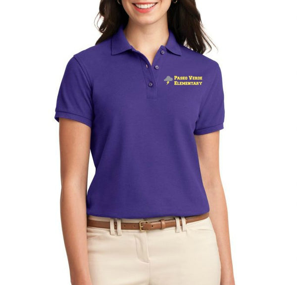 "Paseo Verde Women's ""School Name"" Polo"