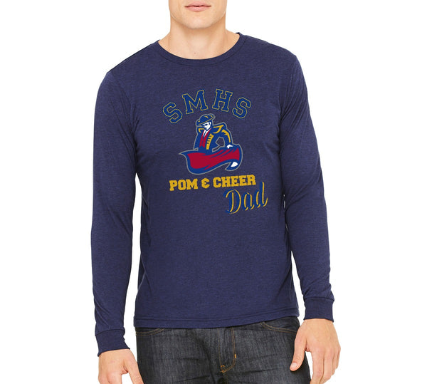"SMHS Pom & Cheer Unisex Long Sleeve ""Dad"" T-shirt"