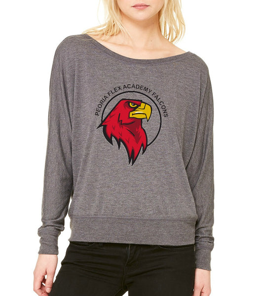 "Peoria Flex Academy Women's ""Logo"" Flowy Long Sleeve T-shirt"