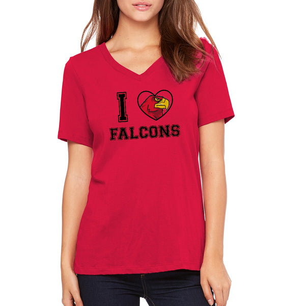"Peoria Flex Academy Women's ""I Heart Falcons"" T-shirt"