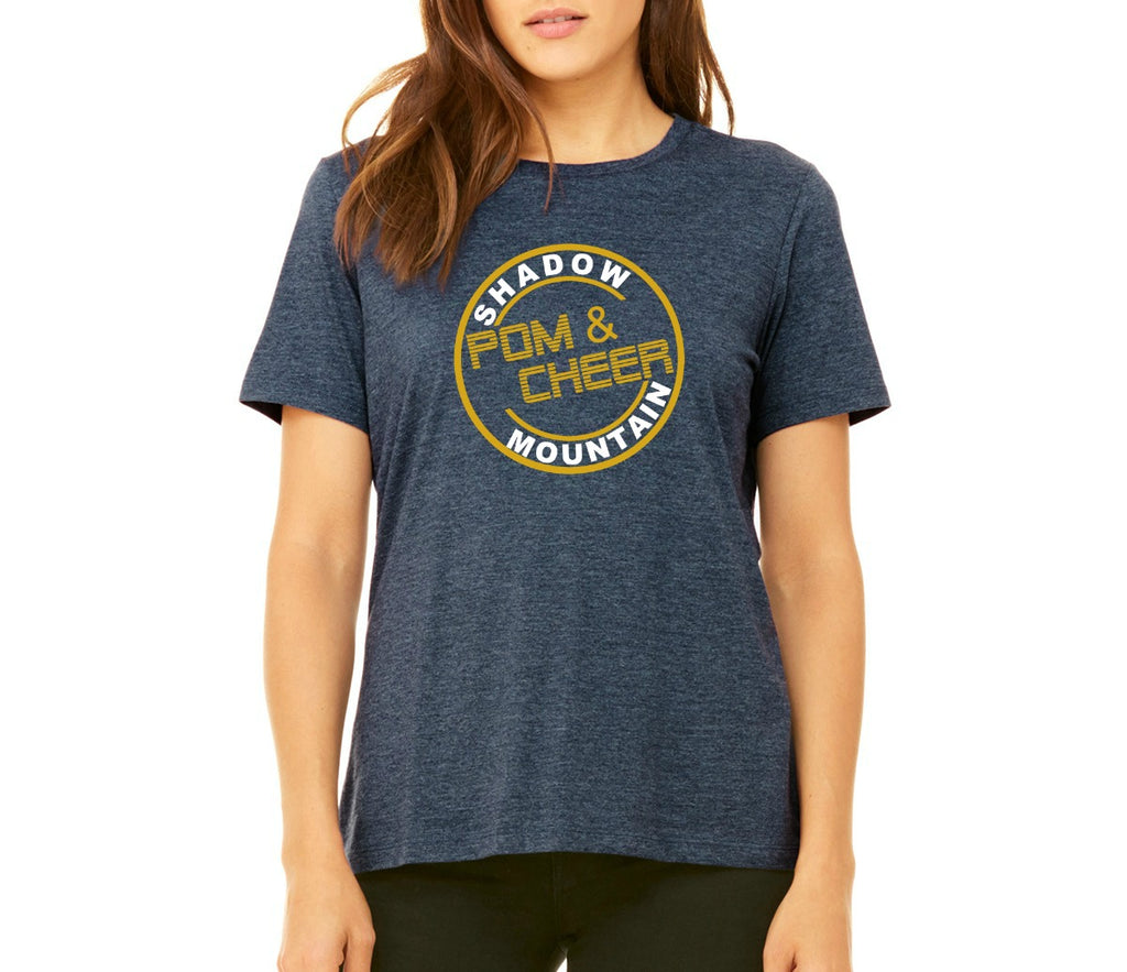"SMHS Pom & Cheer Women's ""Circle Logo"" Scoop Neck T-shirt"