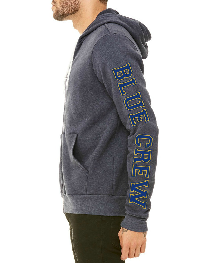 "SMHS Pom & Cheer Unisex ""Blue Crew"" Zip-Up Hoodie"