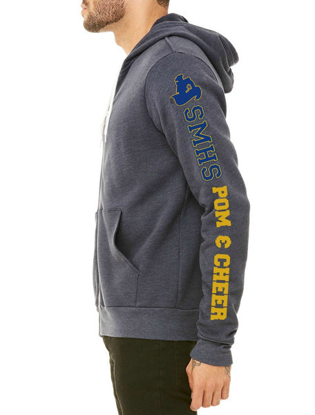 SMHS Pom & Cheer Unisex Zip-Up Hoodie