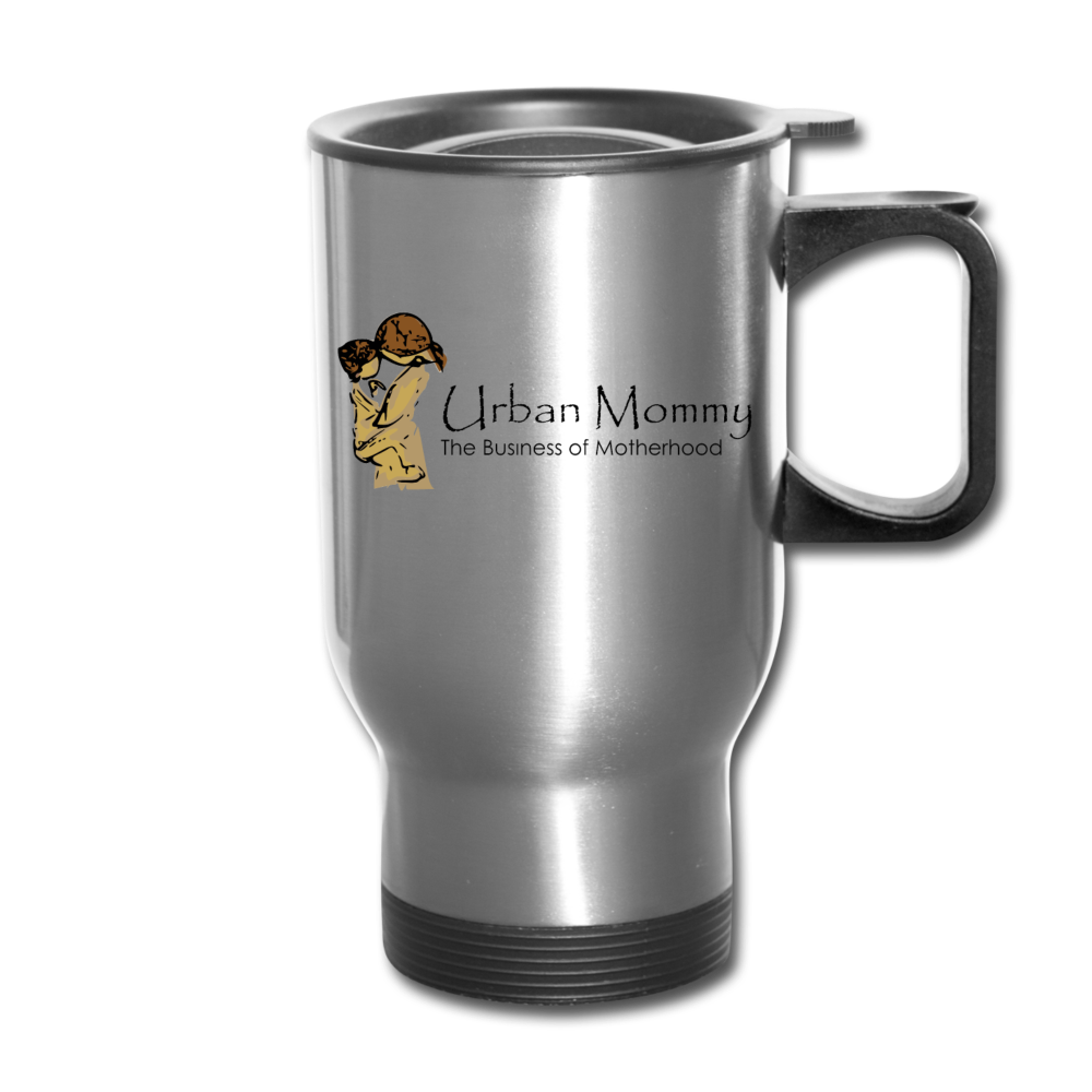 "Urban Mommy ""Logo"" Travel Mug - silver"