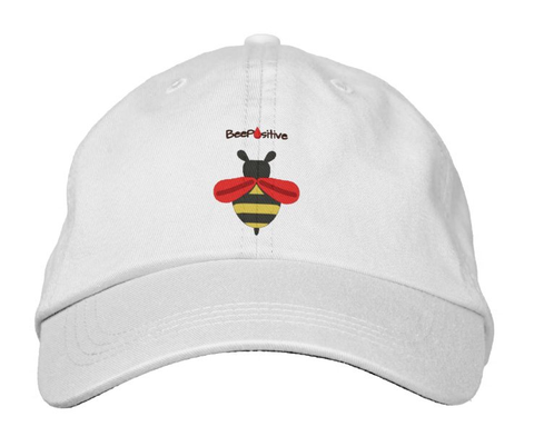 "LLS ""Team Bee Positive"" Embroidered Twill Hat"