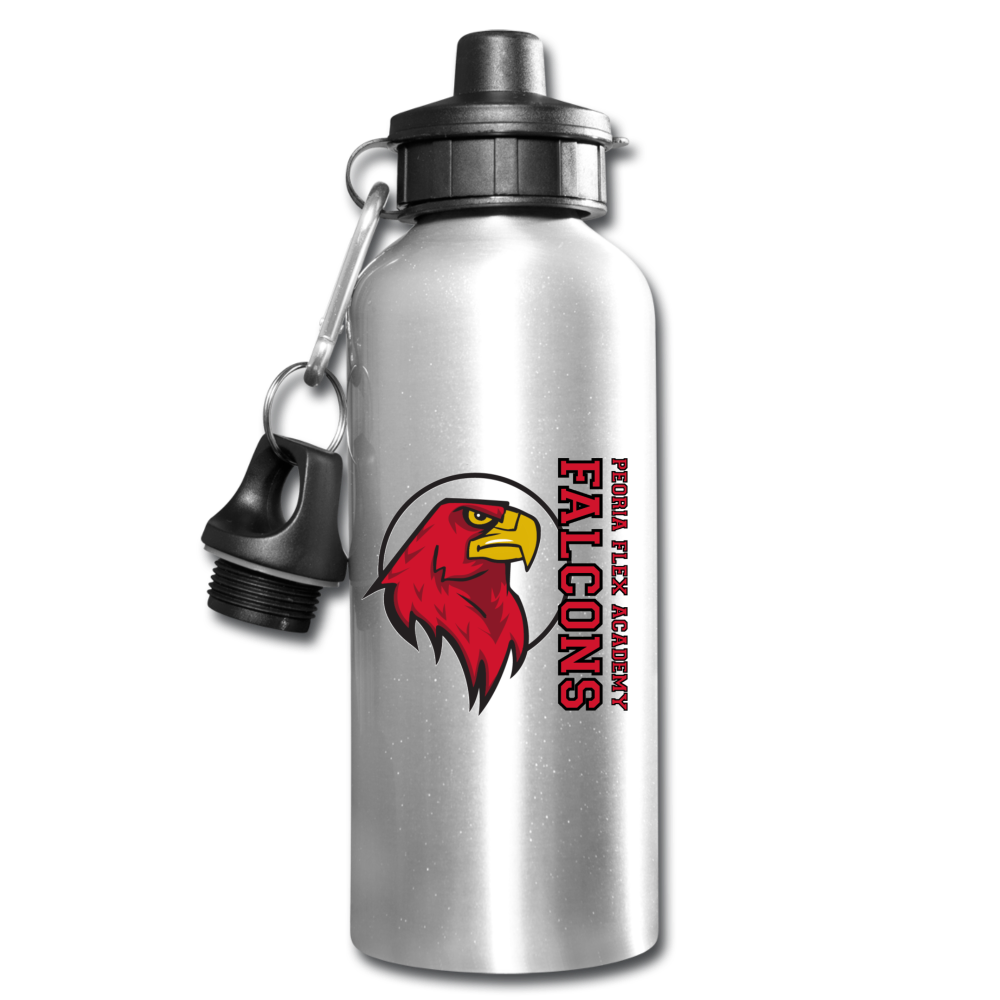 "Peoria Flex Academy ""Logo"" Water Bottle - silver"