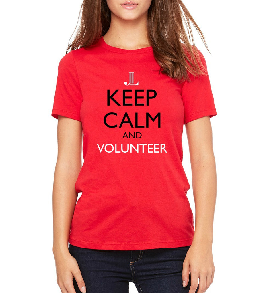 "JLP Women's ""Keep Calm and Volunteer"" T-shirt"