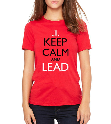 "JLP Women's ""Keep Calm and Lead"" T-shirt"