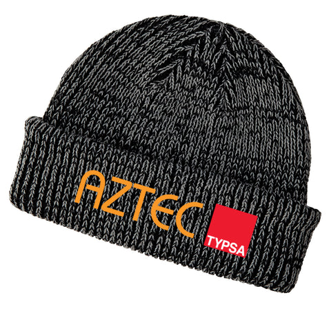 AZTEC Embroidered Ribbed Marled Beanie