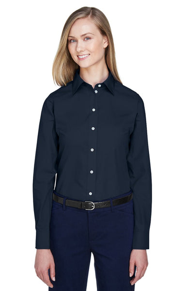 AZTEC Women's Devon & Jones Solid Broadcloth Shirt