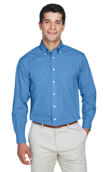 AZTEC Men's Devon & Jones Solid Broadcloth Shirt