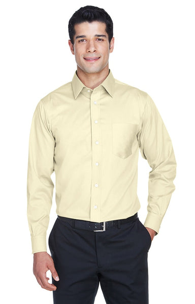 AZTEC Men's Devon & Jones Solid Stretch Twill Shirt