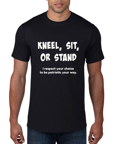 "CHARITY ""Kneel, Sit, or Stand"" T-shirt (Men's)"