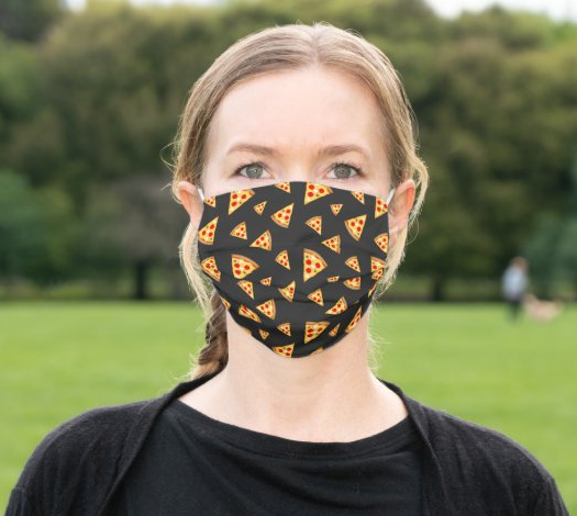 "Cloth Face Mask ""Pizza"""