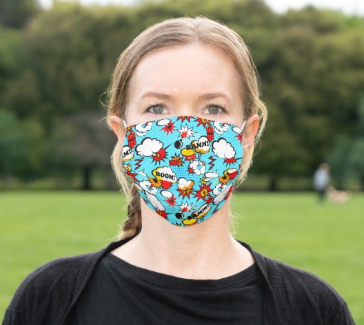 "Cloth Face Mask ""Comic Book"""
